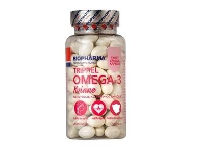 Biopharma TRIPPEL OMEGA-3 Kvinne pre Ženy 120 kapsúl