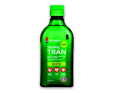 Biopharma Nórsky rybí olej s limetkovou príchuťou Trippel Tran 375 ml