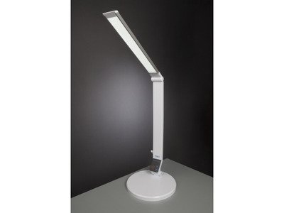 Stolná lampa Carmen NASLI, biela, 9 W, LED