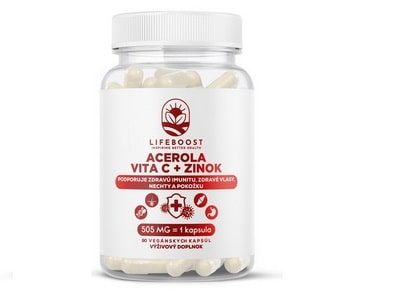 Lifeboost Acerola + Zinok 60kapsúl