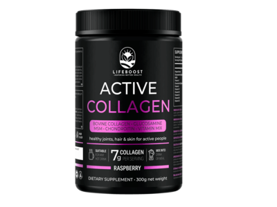 Lifeboost ACTIVE COLLAGEN RASPBERRY kolagén v prášku 300g
