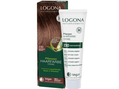 LOGONA Krémová farba na vlasy - gaštanovohnedá 150 ml