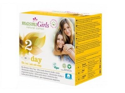 Ultratenké vložky Masmi GIRLS z BIO bavlny DAY 10ks