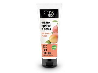 Organic Shop Marhuľa a mango jemný peeling na tvár 75ml