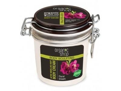 Organic Shop Aktívne tvarujúci nočný telový krém Floral Dream 350ml