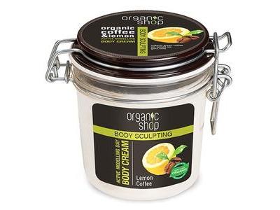 Organic Shop Aktívne tvarujúci denný telový krém Lemon Coffee 350ml
