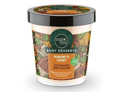 Organic Shop Vyživujúca telová pena Mandľa a Med 450ml